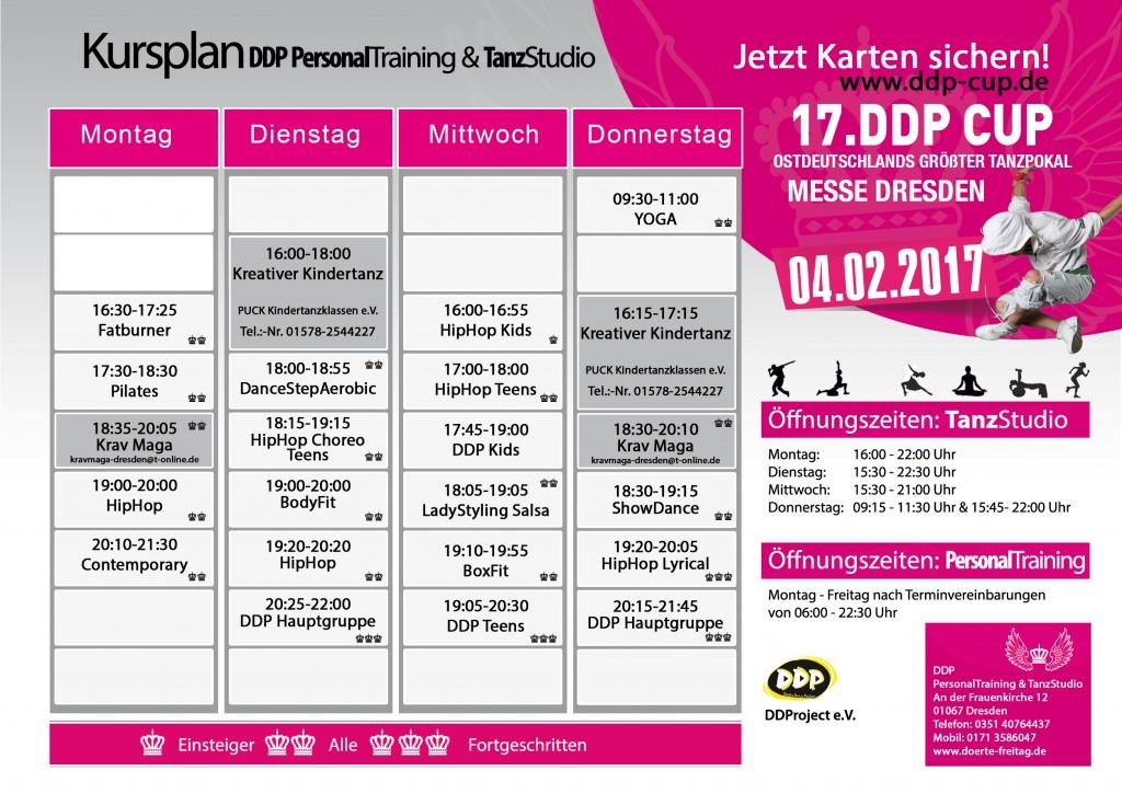 DDP Tanzstudio Kursplan Oktober 2016 Dörte Freitag